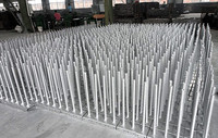 38*4*600mm Hollow Screw Jack Base Jack for Ring Lock Scaffold System