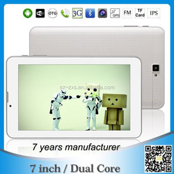 ZXS-718 7 inch HD ips 1024*600 LCD 3g phone call tablet pc android 4.2 os Smart tablet phone