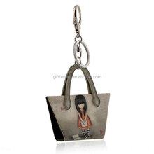 Hot sale key ring customizable plastic key ring manufacturer keychain