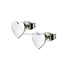 Women's Stainless Steel Heart Stud Earrings