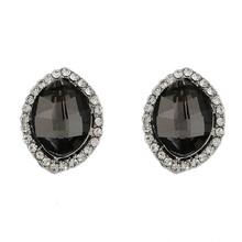 2015 latest big jhumka austrian crystal earring black jhumka earrings