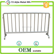 2m length hot dipped Galvanized Steel Barricade with bridge feet