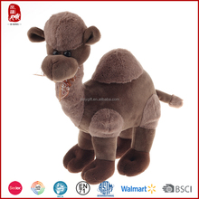 2015 BSCI good quality colorful plush camel with silk bow