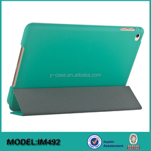 Slim Magnetic Leather Smart Back Cover Case with Back Rubber coating For iPad 4 mini