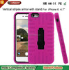 Can get free samples Hard Armor cell phone case for iphone 6 silicone stand phone cover for ip6 case