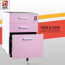 Movable 3 drawer sandblasting cabinet, under desk filing cabinet office bedroom use