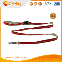 """4ft x 3/5"""" Pet Running Red Print Dog Leash with Padded Nylon Handle"""