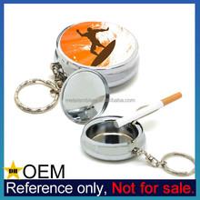 Wholesale Cheap Custom Epoxy Sticker Logo Metal Portable Pocket Ashtray