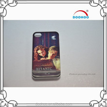 3d romantic plastic mobile phone case for iphone 4/5/5s/6