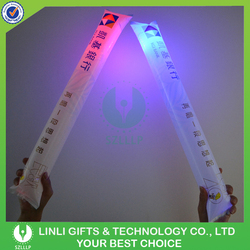 fashionable cheap plastic customized glow inflatable sticks