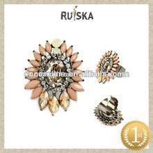 Nuevos productos de moda de la boda de oro anillos de la joyería, diamantes de imitación anillos de moda para las mujeres