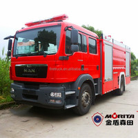 Factory price MAN chassis chemical accident emergency fire rescue vehicle