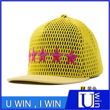 good quality factory price promotional star embroidery mesh hat china suppliers