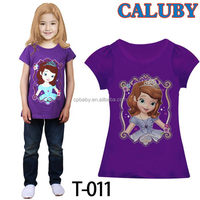 Excellent quality latest cartoon 2014 latest baby tshirt