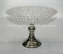 Manufacturers Wholesale Wedding and Hotel elegant Decorative Gold Silver Beaded Glass Charger Plate