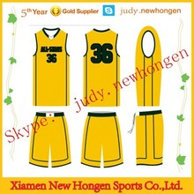 Fashion Style Basketball Top, Sublimation Polyester Basketball Top