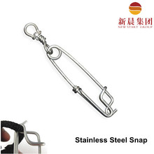 maximum strength stainless steel longline snap with swivel