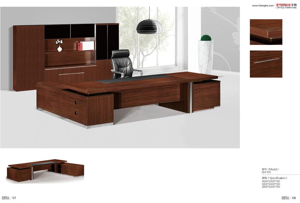 Escritorio de madera maciza mesa escritorio rmy en madera for Mobiliario italiano