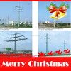 16m 10KN electric pole cross arm manufectures for America