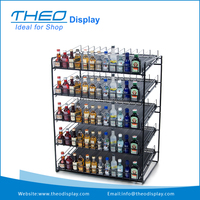 Freestanding Small Bottle Beverage Retail Store Display Stand Rack