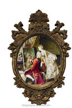 wall decoration beautiful golden resin frame for pictures size 16*20 inch European style