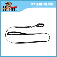 classic plain color pu leather collar and leash with fine workmanship