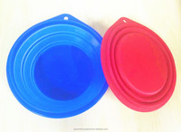 BPA Free Hot Sale Foldable Silicone Travel bowl for dogs and Pets