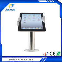 silver hot sale metal lock anti-theft tablet secure mount holder