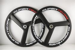 Light weight!Tri Spoke Carbon Bike Wheels Fixed Gear Bike 3 Spoke wheels hot selling in China