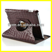 For The New iPad 3 2 360 Degree Rotating Magnetic Crocodile Leather Cover Case Stand