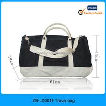 Black color blank strap handles cotton canvas duffel bag, canvas duffle bags for men, canvas duffle bag
