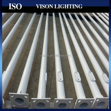 Galvanized steel power bending light pole