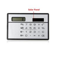 New Design Best Price Portable Mini Slim Solar Powered Calculator Travel Pocket Size Touch Screen Keypad Super Quality