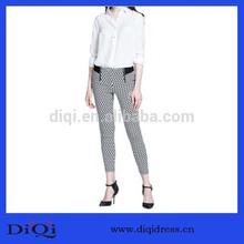 de lujo 2014 apretado diseño elástico para adelgazar mujer pantalones para damas de oficina