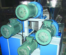 chinese factory pp/pe three color drink straw making machine / production line