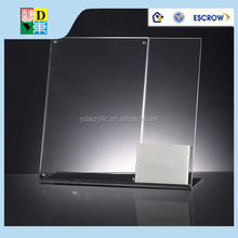 The bank A4 acrylic brochure display holder/simple design high quality acrylic desk brochuredisplay stand made in China