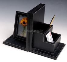 wholesale faux leather cute unique multifunctional/adjustable bookend