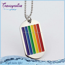 Fashion colored rainbow stainless steel gay dog tag