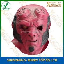 X-MERRY Appealing hero red face mask hellboy realistic adult deluxe party mask