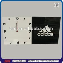 TSD-A088 china factory custom wall clock/acrylic brand sign holder/wall mounted acrylic display board