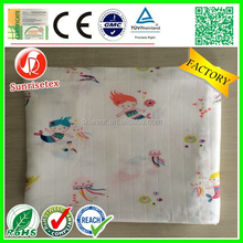 Hot Sales breathable cotton muslin swaddle blanket factory