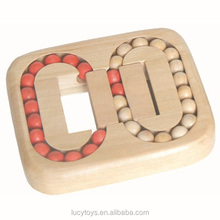 wholesale high quality hot selling wooden 3d maze ball game puzzle toy