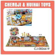 Educational diy scene game 3d paper children puzzles