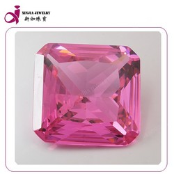 brilliant pink Glass sygemstone square cut glass best price