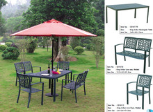 antique garden set cast aluminum garden furniture/bronze metal dining chair/outdoor metal table and chairs