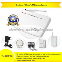 Wired/wireless Home guard GSM SMS alarm system with micro listening device and intercom