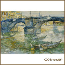 High quality artist oil painting reproduction bridge by Monet