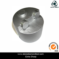 Diamond plugs for concrete grinding and epoxy floor coating removal