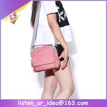 Fashion Canvas Solid Color Side Girls Shoulder Bags For School