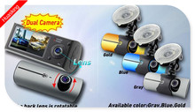 PROMOTION !!!!!! 2.7 INCH cheap GPS function dual lens car camera